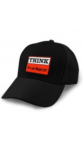 Think It is Not Illegal Yet Adult Curved Baseball Cap Dirt Resistant and Washable Adjustable Elastic Fashion Black  B08YZ215Y2